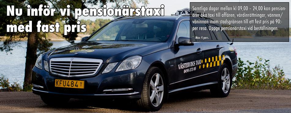 Pensionärstaxi för endast 100:- inom Västerviks stadsgräns